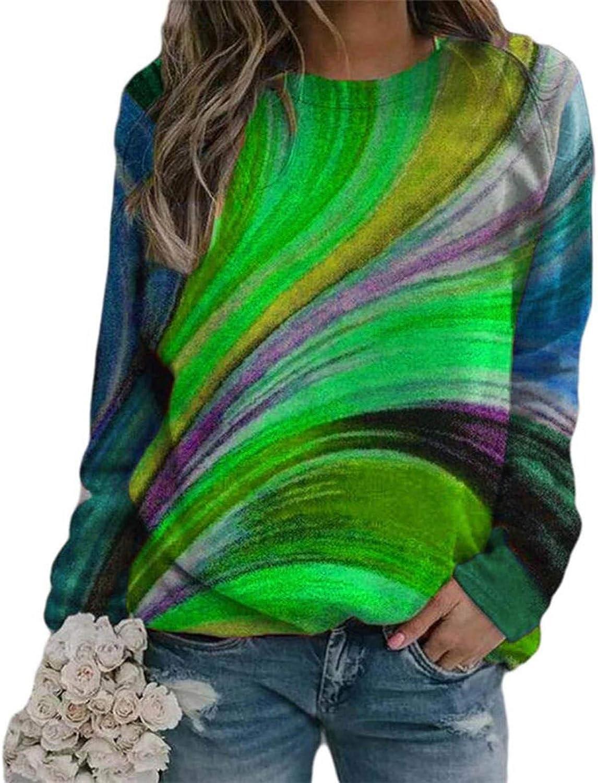 Womens Long Sleeve Tops, Women's Sunflower Printed Sweatshirt Teen Girls Long Sleeve Casual Crewneck Tops