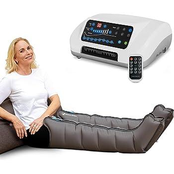 Vein Angel 8 Premium apparecchio per massaggi con gambali, 8 camere d'aria disattivabili, pressione & durata facilmente regolabili, 6 programmi di massaggio, no pressoterapia