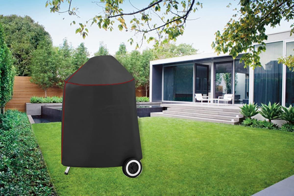 BBQ Coverpro 99915 Vinyl Heavy Duty Smoker Cover Fit Weber 22 Charcoal Smokey Mountain Cooker