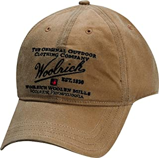 Woolrich Mens Oil Cloth Ball Cap with Embroidery