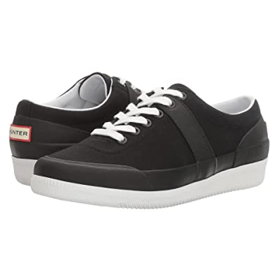 Hunter Original Sneaker Lo Canvas (Black/White) Women