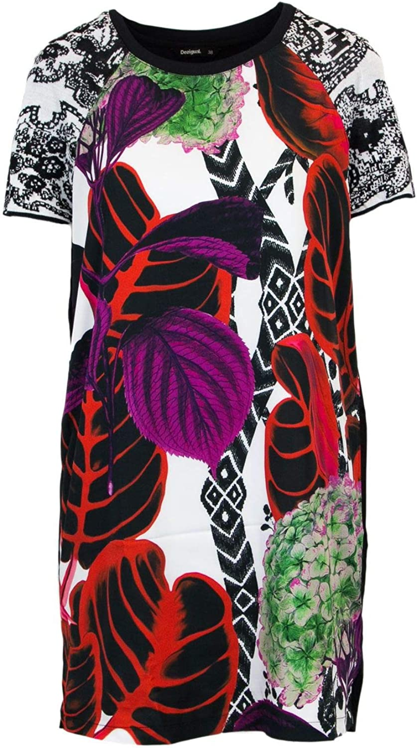 Desigual Women's 18SWVWAMMULTI Multicolor Viscose Dress