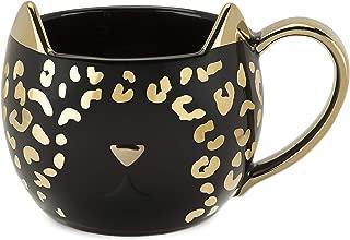 Pinky Up 9470 Chloe Leopard Mug, Black, Set of 1 Tea Cup, One,