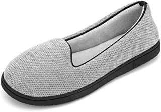 RockDove Women's Chenille Lightweight Closed Back Slipper with Memory Foam