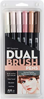 Tombow Dual Brush Pen Art Markers 6-Pack DBP6-56165