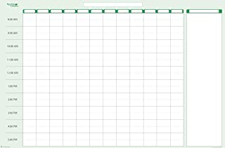 $29 » Earth Green 12-Column Daily Time Manager Sticky-Note Dry-Erasable Wall Planner 24 in. x 38 in. from PlanetSafe Calendar (...