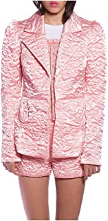 Anna Sui Women'S Blush Quilted Butterflies Satin Jacket