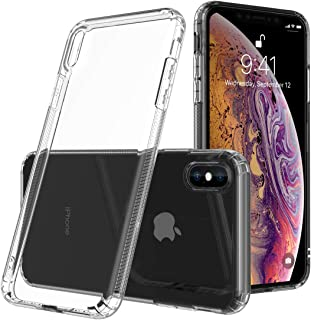 Crystal Clear iPhone Xs Max Bumper Case, [Incoming Call Flash] Raised Bezel Protective Cover with Soft Corner Air Cushion ...
