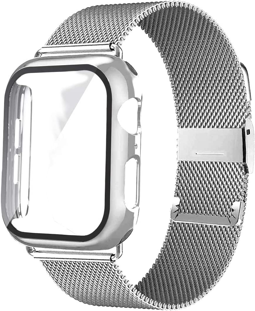 XYSCFF Glass+Case+Strap for Watch Latest item Band 40mm Cheap mail order shopping Acces 38mm 42mm 44mm