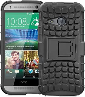 Fosmon [Rugged] HTC One Remix Case (HTC One Mini 2) Case - HYBO-Ragged Heavy Duty Hybrid Protective Cover with Kickstand - Retail Packaging (Black)