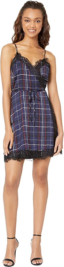 Ivan Plaid Wrap Dress
