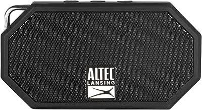 Altec Lansing IMW257-BLK Mini H2O Wireless Bluetooth Waterproof Speaker, Floating IP67 Waterproof, Boat, Hiking, Golf Cart, ATV, Utv, Lightweight, 6-Hour Battery Life, Black