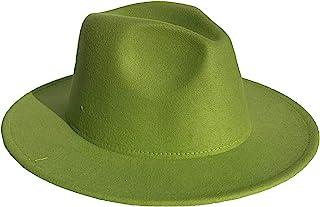 Jixin4you Mens Fedora Hat Felt Trilby Large Brim Unisex Classic Panama 1920s Mens Gatsby Roaring Hats Adjustable Size