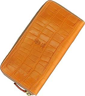 (フェリージ) felisi 国内正規品 125/SA 長財布 オレンジ系 クロコ型押しレザー ラウンドジップ