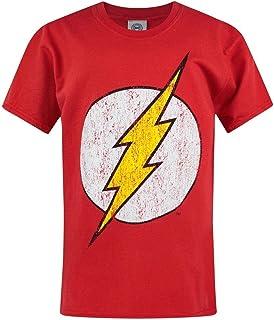 Flash - Camiseta Oficial Estilo Desgastado para niños y niñas