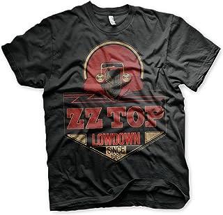 f31910be1 ZZ-Top Oficialmente Licenciado Lowdown Since 1969 Camiseta para Hombre  (Negro)