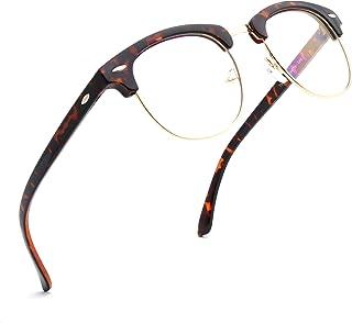 نظارات ENSARJOE زرقاء تحجب الضوء شبه بدون إطار إطار إطار نظارات نظارات نظارات لعبة الكمبيوتر نظارات نظارات