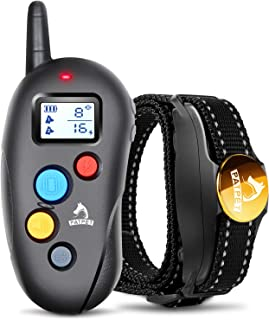 Patpet Dog Training Collar IPX7 Waterproof, Fast rechargeable Shock Collar for Dogs with 1000FT Long Remote Range, 3 Modes...