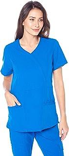 Angel Uniforms- Adrianna 4-Pocket, Slim-Fit Stretch Scrub Top Medical Anti-Wrinkle