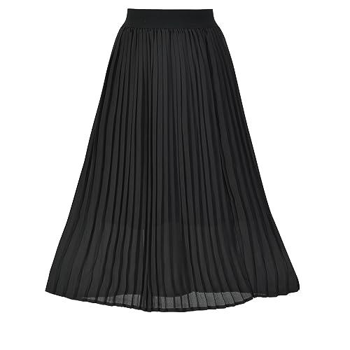 3f2356e3f3 Howriis Women's Summer Chiffon Pleated A-line Midi Skirt Dress