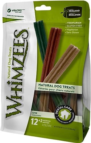 Whimzees Bâtonnets Nature Dog Treats M pour Chien - x14,