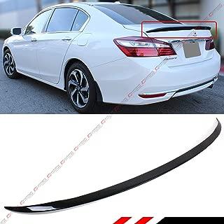Cuztom Tuning Fits for 2013-2017 Honda Accord 4 Door Sedan Painted Black Sport Trunk Lid Spoiler Wing