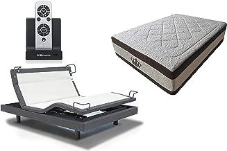 DynastyMattress 15.5-Inch AtlantisBreeze Gel Memory Foam Bed with Reverie 8Q Adjustable Base Set Sleep System (Queen)