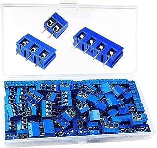 otutun PCB Vis Connecteur, 100 Pièces 250V 17A Bornier à Vis Connecteur à Vis de PCB Circuit Imprimé Bornier à Souder Pour...