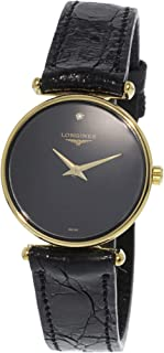Longines Men's L41352571 Gold Leather Swiss Quartz Dress Watch