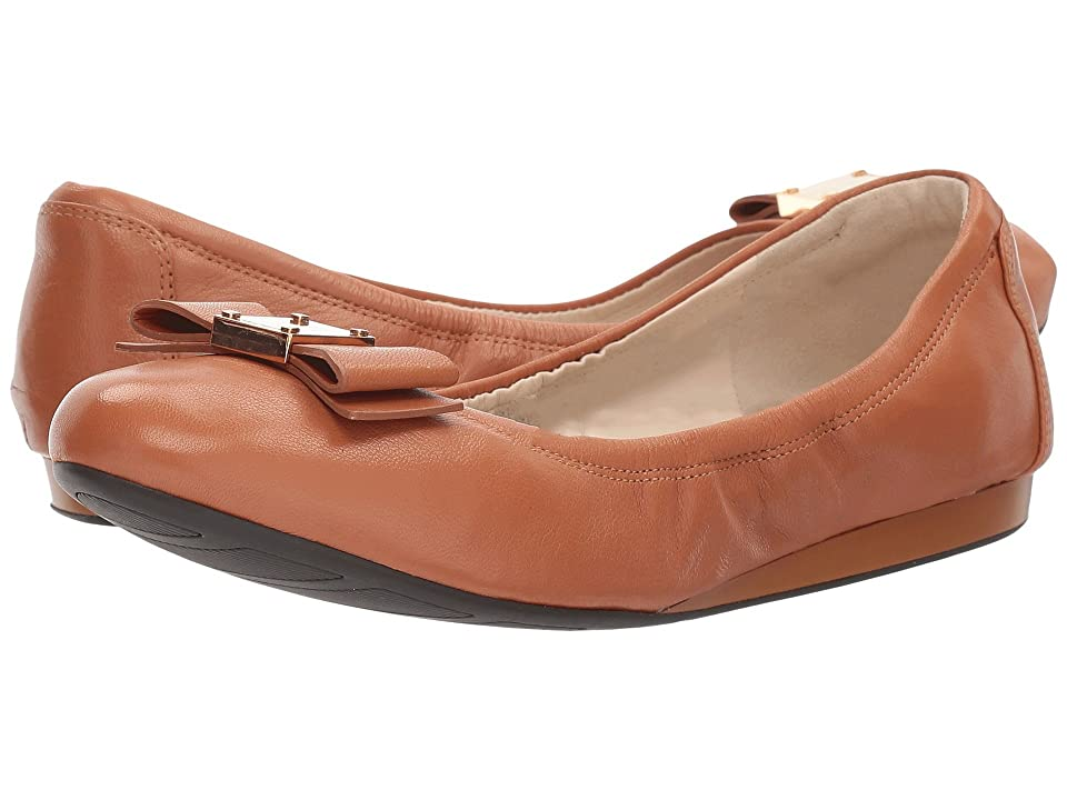 Cole Haan Tali Bow Ballet (British Tan Leather) Women's Slip on Shoes