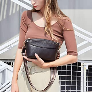 Women's Bag Leather Ladies Bag Top Layer Leather Shoulder Bag Messenger Bag Handbag Female Bag Handbags (Color : Coffee)