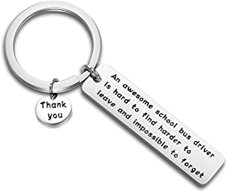 School Bus Driver Keychain Awesome Bus Driver Appreciation Gift Keychain Thank You Gifts for Driver, Back to School Gift