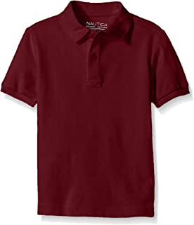 NAUTICA Big Boys' Uniform Short Sleeve Pique Polo