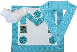 Masonic Craft Master Mason MM Apron,Gloves and Officer collar