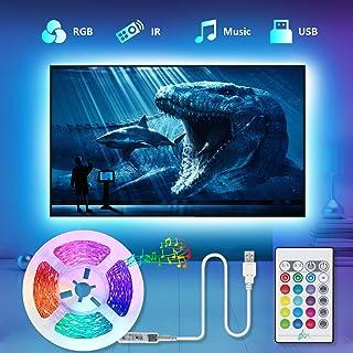 comprar comparacion Tiras LED TV 2.2M, TASMOR Tira LED USB RGB 5050 Sincronización de Música Multicolor, Luces LED Habitación con Control Remo...