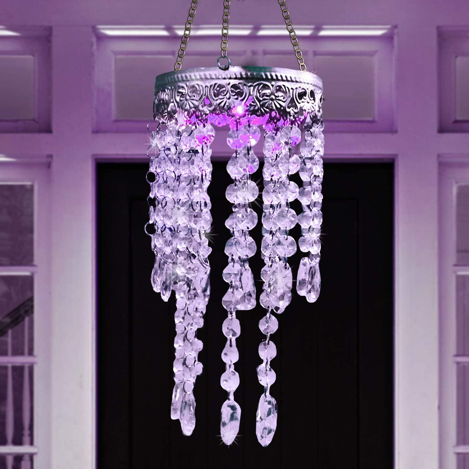 Chandelier Solar Multicolor Clear Crystal Wind Chimes GetSet2Save and Ct Discount Store Chandelier Crystal Clear Wind Chimes Outdoor Decor