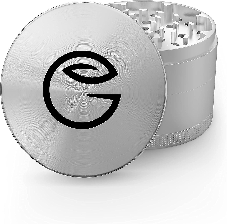 GrindNation Premium Grinder ø 63 mm   aluminio   4 piezas   incluye bolsa y rasqueta   varios colores disponibles (logotipo plateado)