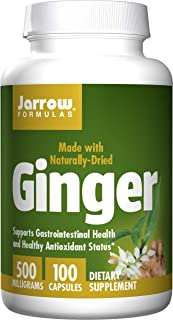Jarrow Formulas Ginger, Supports Gastroinestinal Health, 500 mg, 100 Caps