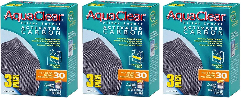 Aquaclear Activated Carbon Insert, 30Gallon Aquariums, 3Pack (3Pack)