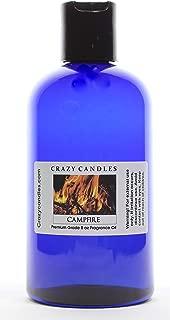 Crazy Candles 8oz Campfire Bottle 8 Fl Oz (240ml) Premium Grade Scented Fragrance Oil