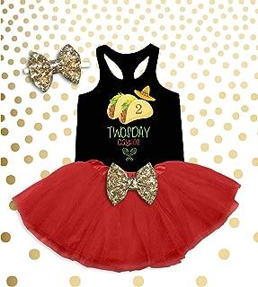 Girl's Taco Twosday Shirt Toddler Girl's 2nd Birthday Shirt 2nd Birthday Outfit Fiesta Birthday Outfit Taco Birthday Outfit Taco Tuesday