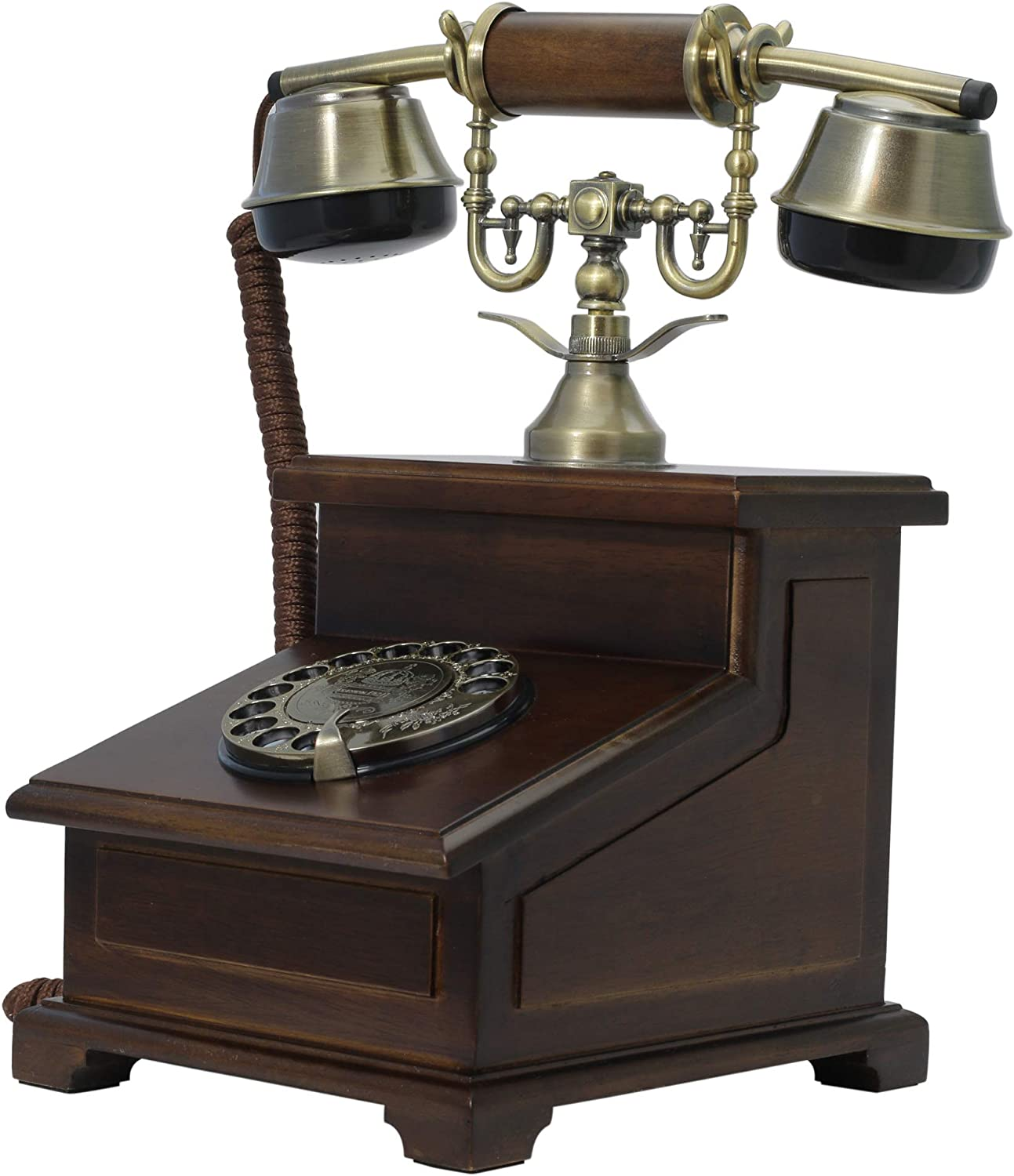 Opis 1921 Cable Model E: The Massive Antique Style Desktop Telephone Made from Wood and Metal
