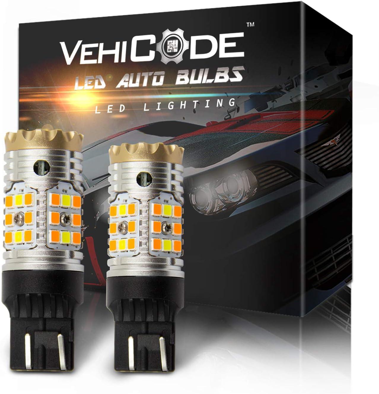 VehiCode CanBus Japan Maker New Error Free Large-scale sale 7443 7444 Amber Light White Bulb LED