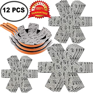 Xutong - Protectores para sartenes y ollas, 12 unidades, acolchados, de fieltro,