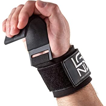 zughilfen set for Fitness, Black Fitgriff Wrist Wraps