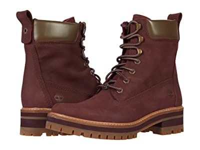 Timberland Courmayeur Valley 6 Boot (Burgundy) Women