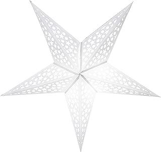 GalaxyArts - Roman Star (White) - Paper Lantern Star - Handmade