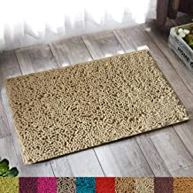 """Lushomes Chenille Angora Anti-Slip 2200 GSM bathmat with High Pile Microfiber with Synthetic Backing, Extra Large (12""""x 18"""", 30 x 45 cms, Single Pc)"""