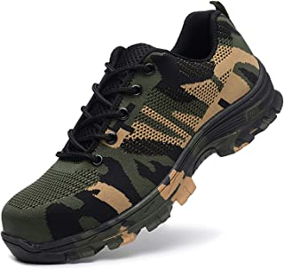 SUADEX Steel Toe Shoes for Men and Women Industrial Construction Work Safety Shoes Sneakers, Outdoor Hiking Trekking Trail Composite Shoes