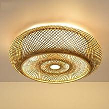 Retro bambusowa tkana lampa sufitowa, bambusowa lampa wisząca E27, korytarz, lampa sufitowa, ręcznie tkana, naturalny bamb...